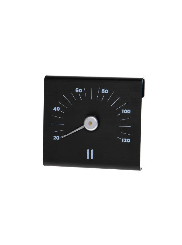 Termometr Rento Aluminiowy Czarny
