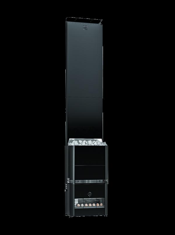 Zestaw Saunum Primary z piecem elektrycznym 4,5kW - czarny - ZABUDOWA