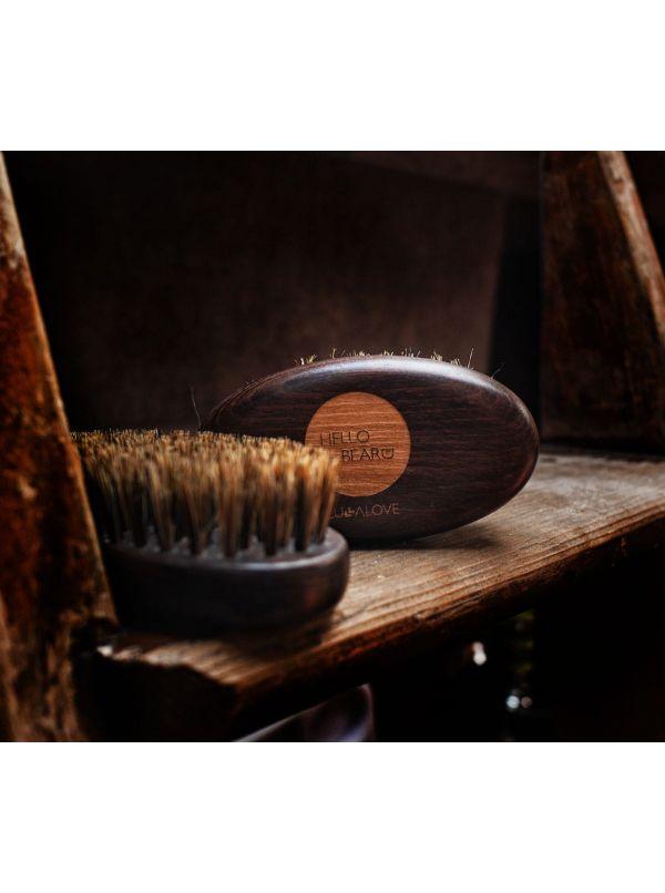 Szczotka do włosów i brody - 100% włosie dzika by Lullalove