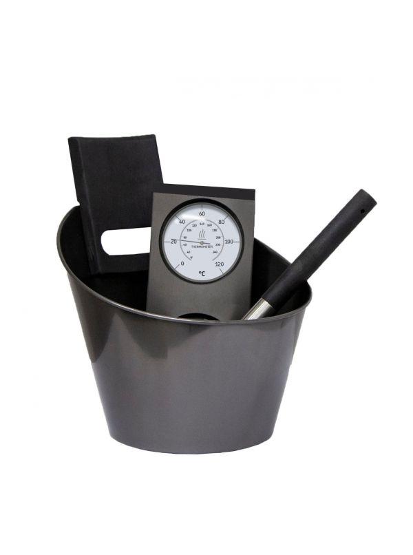 Zestaw akcesoriów stalowych czarnych Harvia SA007