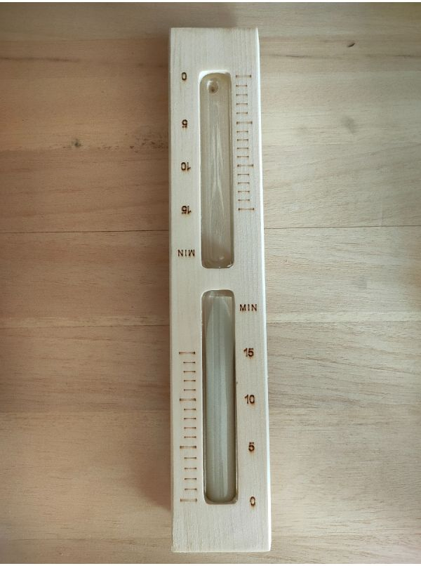 Klepsydra osikowa do sauny z biały piaskiem- Sawo 553 WA