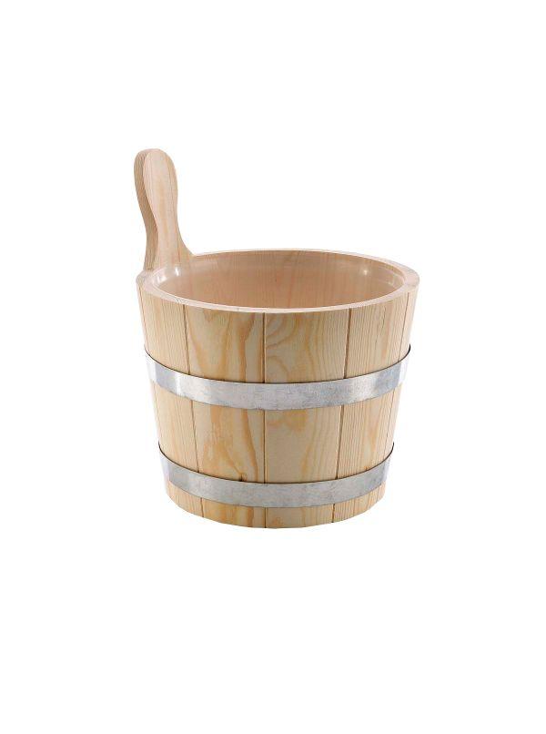 Ceber do sauny 5l Eliga metalowe obręcze - drewno iglaste