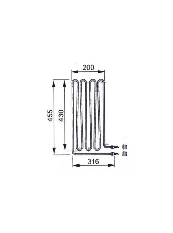 Grzałka do pieca 34.G EOS 3,0 kW - 20012967