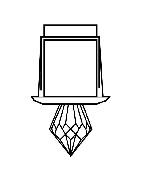 Kryształ do światłowodu Harvia Luminous Crystal 3; krótki diament