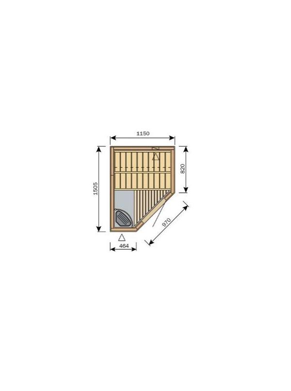Sauna Harvia Variant Formula 1,15m x 1,5m  S1215 R L