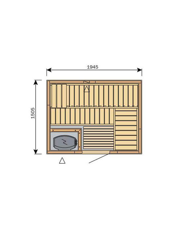 Sauna Harvia Variant Formula 2m x 1,5m  S2015