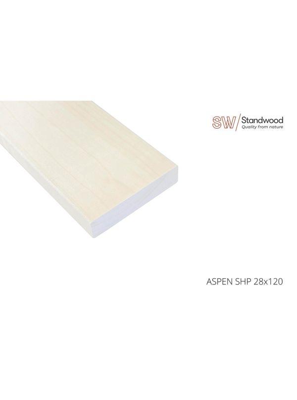 Deska ławkowa do sauny osika - profil SHP 2100x120x28mm szt.