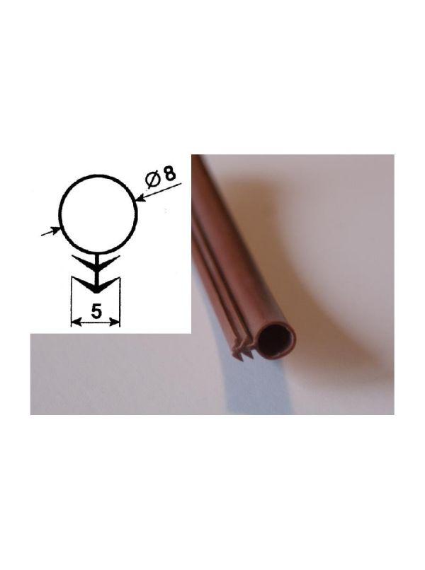 Uszczelka silikonowa do drzwi saunowych B2 brąz - 5mb