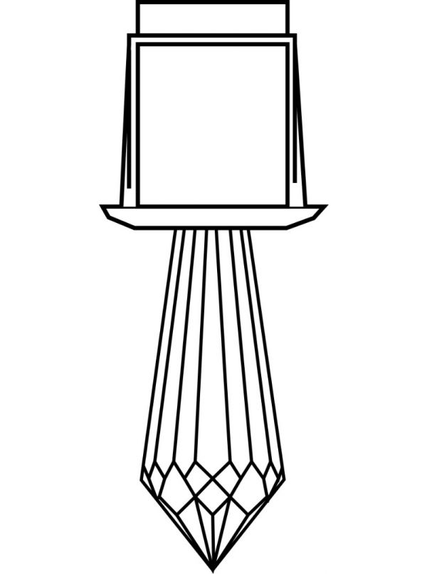 Kryształ do światłowodu Harvia Luminous Crystal 4; długi diament