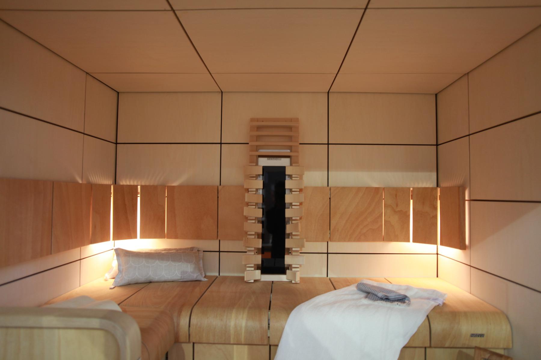 sauna z płyt