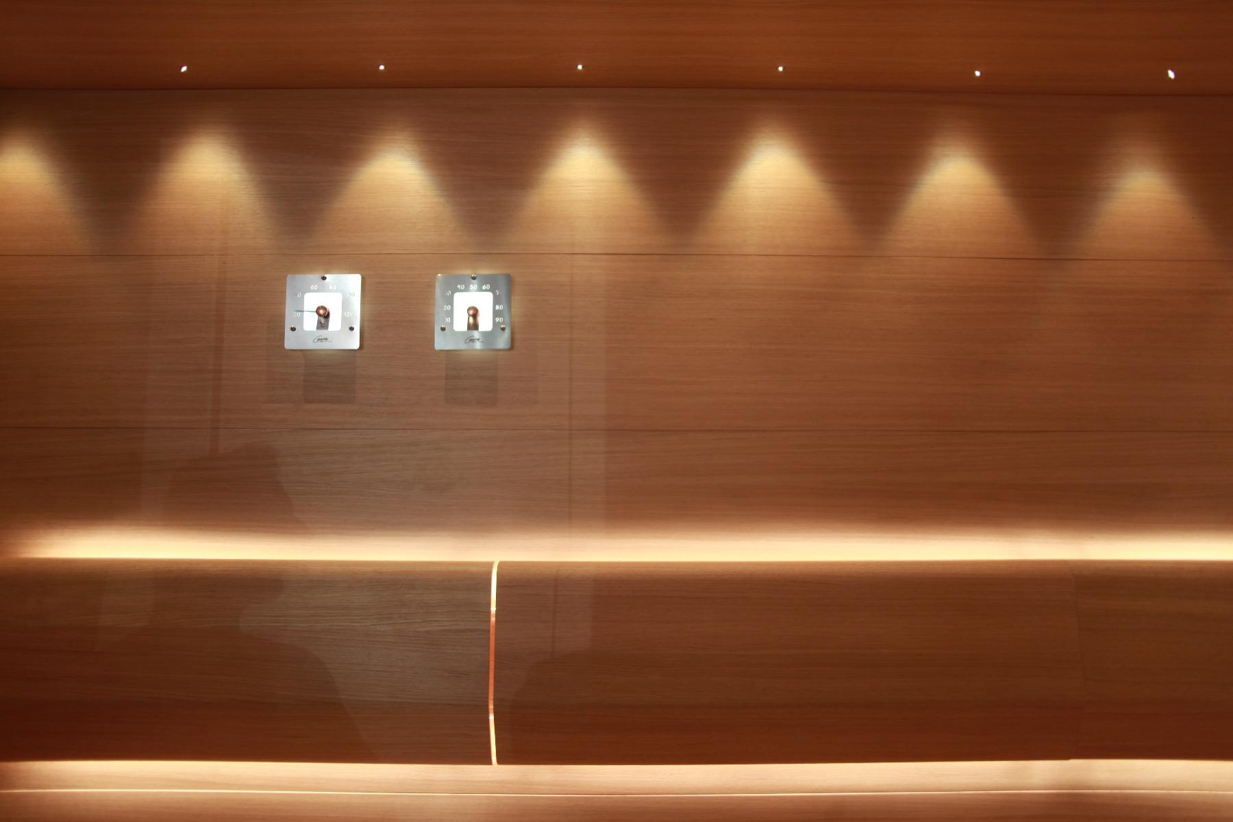 oświetlenie sauna