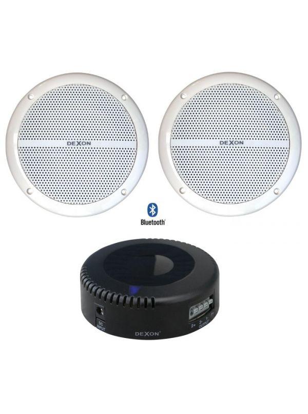 Zestaw głośników wodoodpornych z wzmacniaczem Bluetooth Dexon JPM 2021