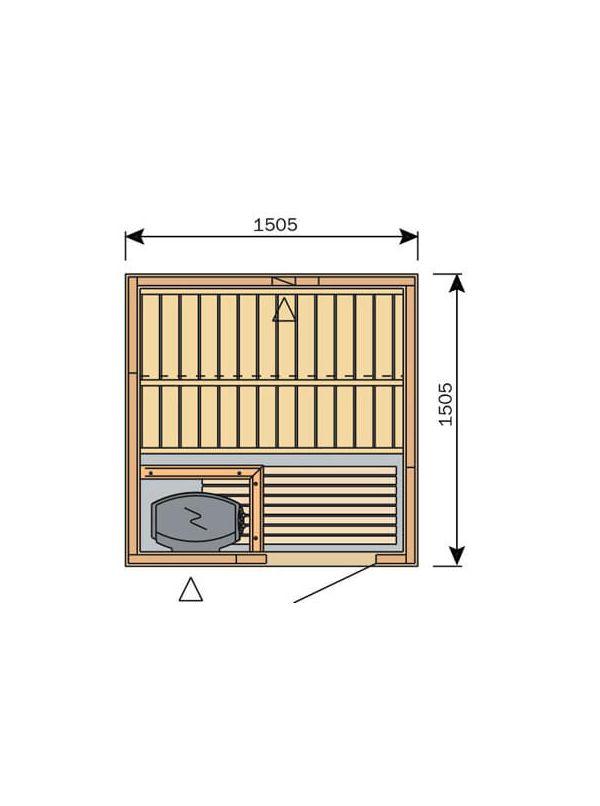 Sauna Harvia Variant Formula 1,5m x 1,5m  S1515