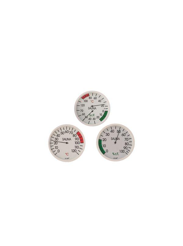 Termometr saunowy biały bimetal Eliga okrągły 120mm
