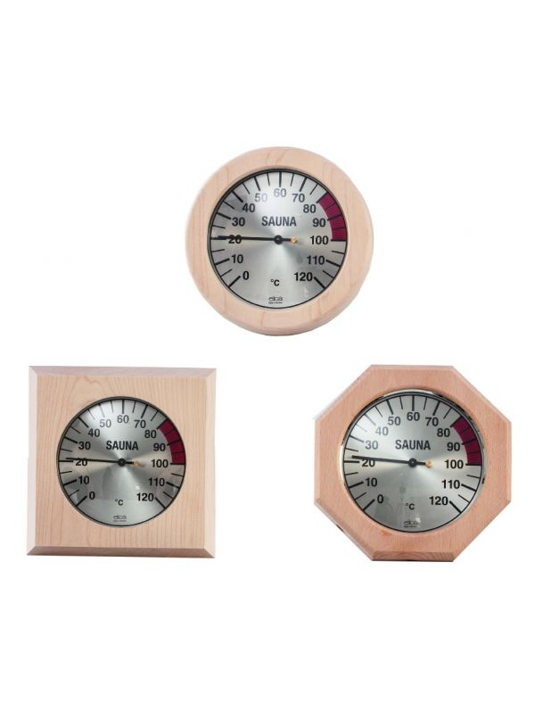 Termometr saunowy w drewnianej ramce Eliga 170mm
