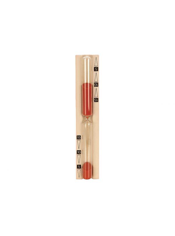 Klepsydra 15min - czasomierz saunowy z czerwonym piaskiem, niemiecka jakość Eliga