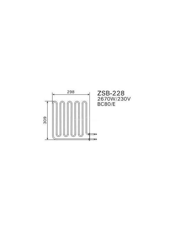 Grzałka Harvia - do pieca BC80 (E) ZSB-228 2670W/230V