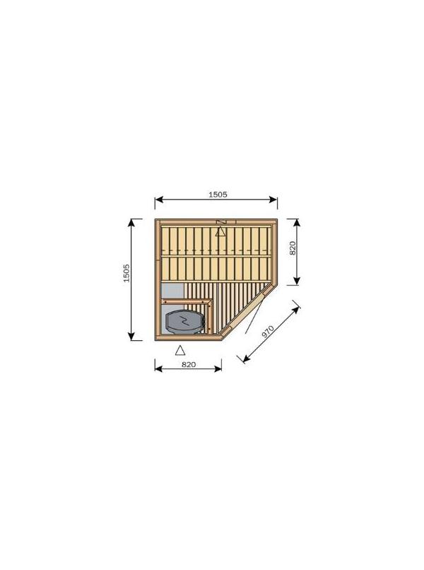 Sauna Harvia Variant Formula 1,5m x 1,5m  S1515R L